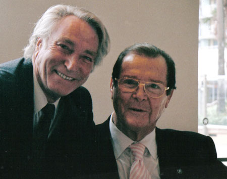 Frank Ifield and Roger Moore